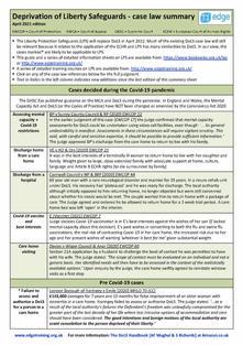DoLS case law sheet April 2021