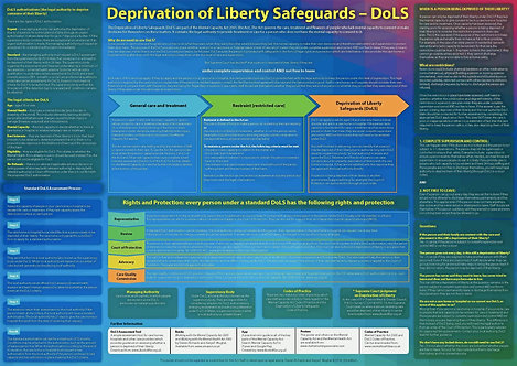 Deprivation of Liberty Safeguards (DoLS) wall chart