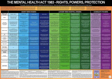 Mental Health Act 1983 - wall chart