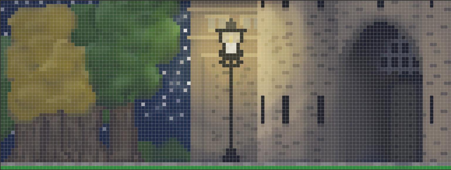 Lancaster Castle Pixel Art