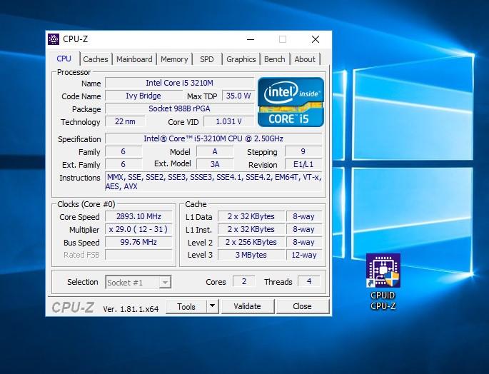 CPU-Z is a freeware