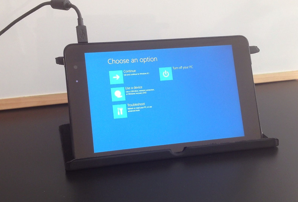 DELL Venue Windows Reset