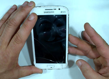 Samsung Galaxy broken touch screen glass