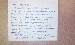 Note From Social Studies Teacher
