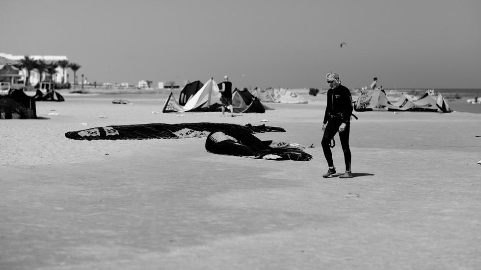 Kiteboarder / El Gouna Beach / Egypt 2020