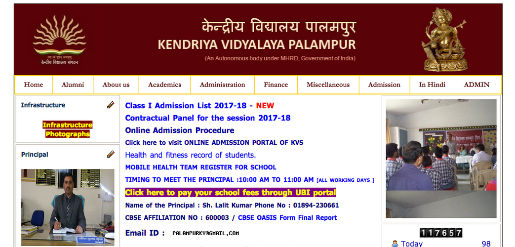 Kendriya Vidyalaya, Palampur had height, weight and body index of each student linked to their unique IDs uploaded on an organized excel sheet.
