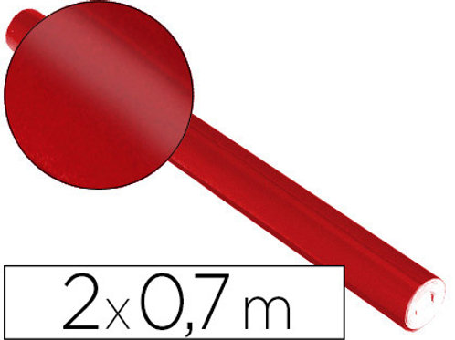 Rouleau de Papier métallisé Rouge  0.7x2m