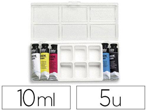 boîte 5 tubes 10ml couleur primaire+ 1 palette
