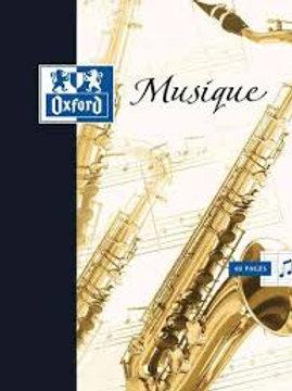 Cahier de musique 240 x 320 mm, 48 pages