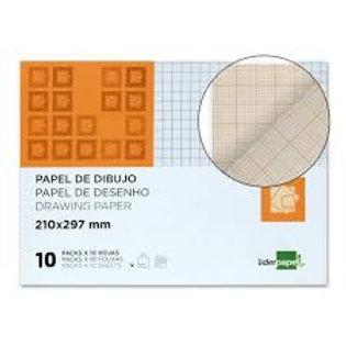 Pochette transparente de 10 feuilles de 80 g/m². Millimétré  Format A44
