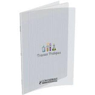 Cahier travaux pratiques couverture pp incolore a4+ 24x32cm