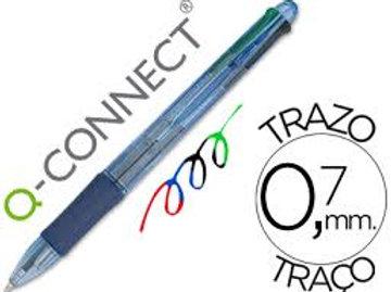 Stylo-bille q-connect 4 couleurs écriture moyenne 0.7mm