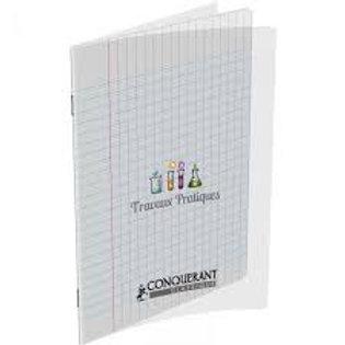 Cahier travaux pratiques couverture pp incolore 17x22cm 64
