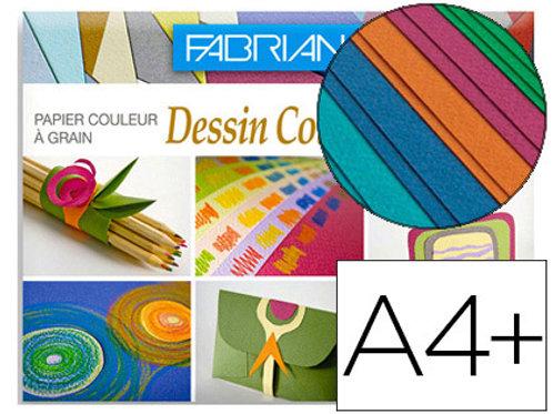 Pochette de 12 feuilles à dessin 160 g/m², couleurs vives .