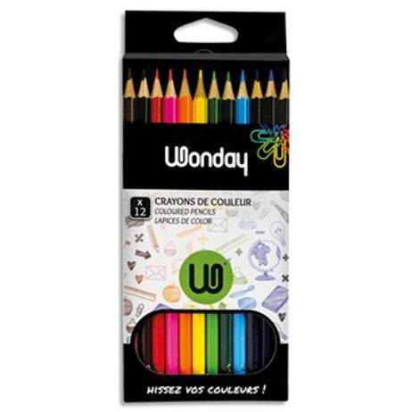 Etui carton 12 Crayons couleurs