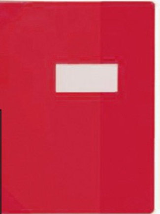 protege cahiers 24x32 rouge