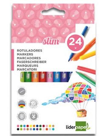 Feutre coloriage liderpapel  étui carton 24 unités.