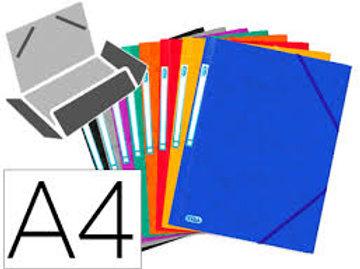 Chemise 3 rabats+élastiques A4 21x29.7