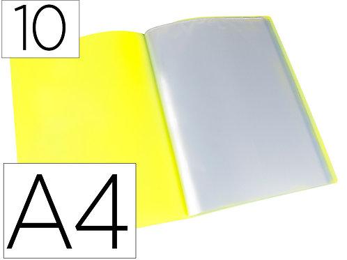 Protege-documents polypropylene couverture flexible 10 pochettes fixe