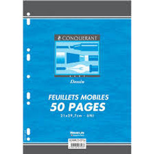 Feuillet mobile dessin a4 210x297mm 50 pages