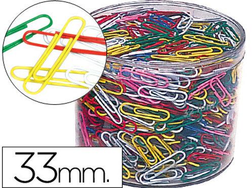 Trombone  33mm coloris assortis boîte 1000 unités.