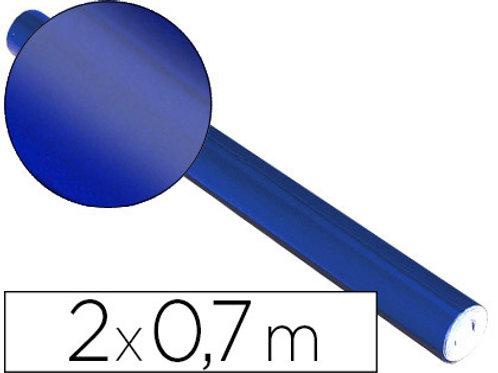 Rouleau de Papier métallisé Bleu 0.7x2m