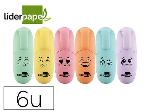 Pochette de 6 Mini Suligneurs Pastels