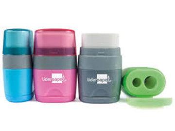 Taille-crayon Liderpapel plastique 2 usages
