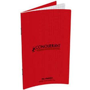 Carnet agrafé conquérant classique couverture polypropylène 9x14cm 96 pages 90g
