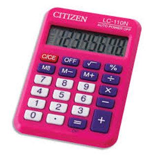 Calculatrice citizen poche lc-110n 8 chiffres rose