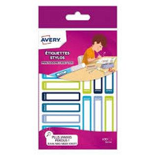 Étiquettes  pour identifier matériel scolaire color bleu