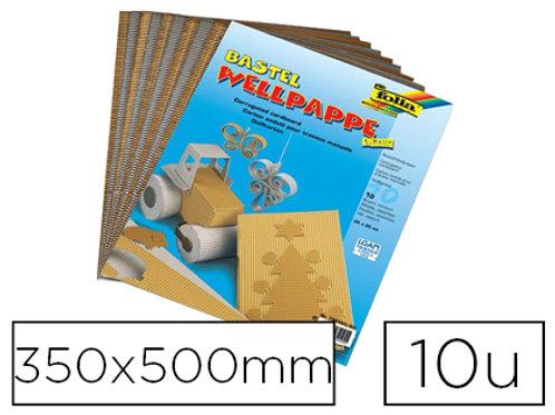 Paquet 10 Cartons Ondulé350x500mm coloris or et argent