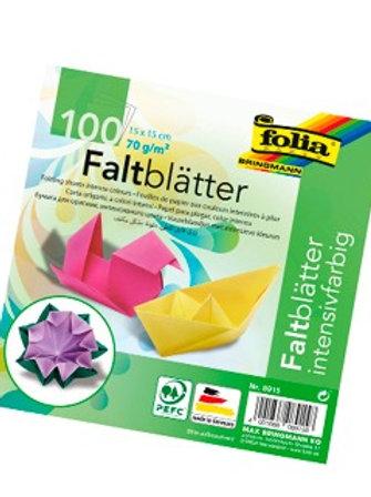 Papier couleur folia à plier 70g/m2 15x15cm coloris assortis 100f.