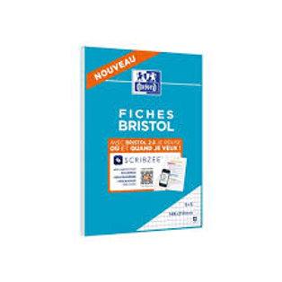 Cahier de fiches bristol oxford A5 14,8x21cm 5x5mm 30 unités