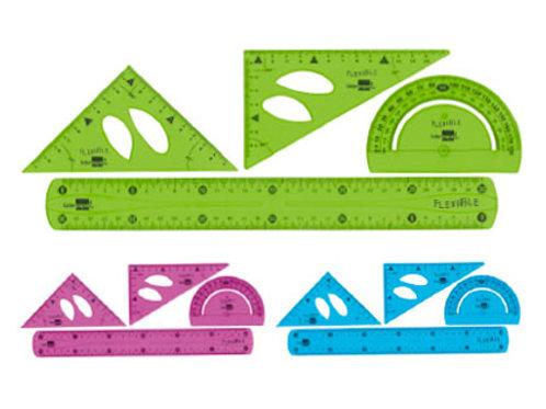 Set traçage liderpapel plastique flexible incassable