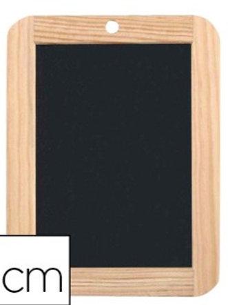 Ardoise noire  180x260mm pierre naturelle cadre en bois.