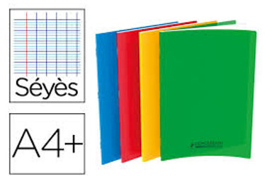 Cahier Couverture Polypro 24x32 140pages Grand carreaux