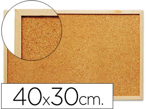 Tableau liège cadre bois 40x30cm