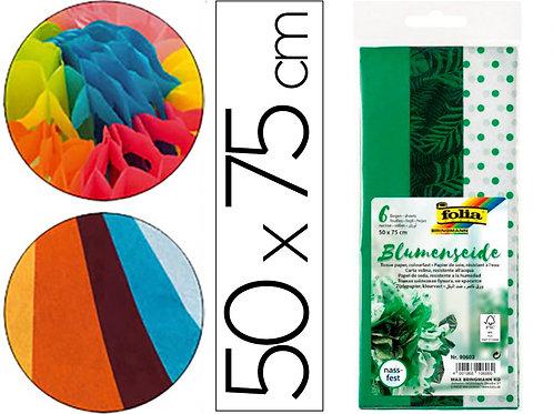 Papier De Soie Vert 500x750mm