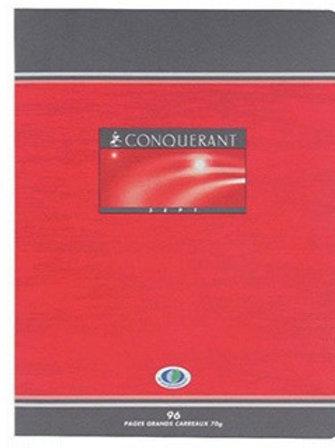 Cahier piqué conquérant sept  17x22cm 96 pages 70g séyes.