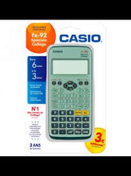 Calculatrice casio scientifique fx 92 collège 2d+ écran géant 5 lignes