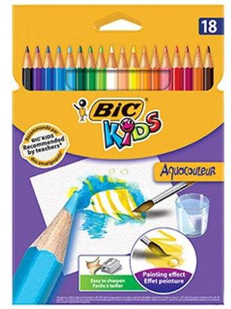 Crayon bic etui 18 kids  aquarelle très pigmentée