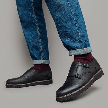 Черные кожаные Монки