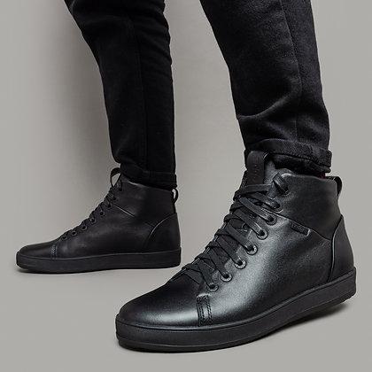Черные кожаные мужские ботинки