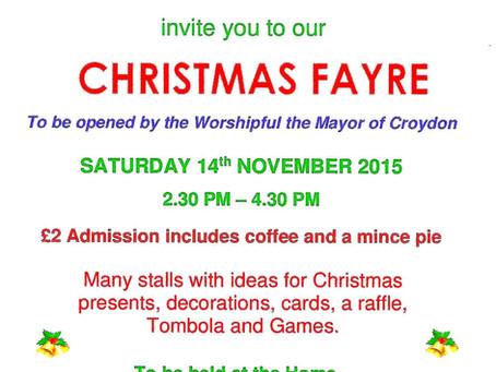 Christmas Fayre at James Terry Court Saturday 14th November 2015