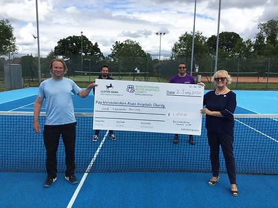 Bromsgrove Tennis Club PR big cheque 3.j