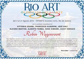 Rio Art Certificate
