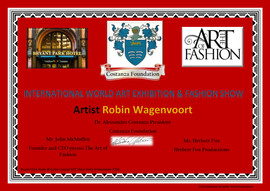 Robin Wagenvoort - Certificate of Art and Fashion