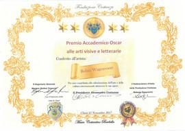 Certificate Premio Accademico Oscar
