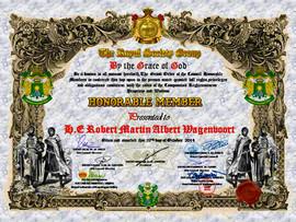 Certificate of Honorable Membership